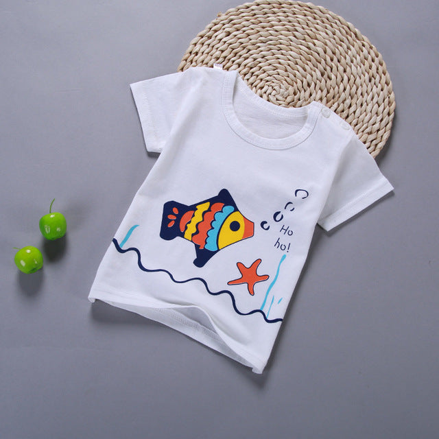 98dc5b41e Summer Boys Girls T Shirt Kids Clothes Boys Cartoon Cotton T Shirt ...