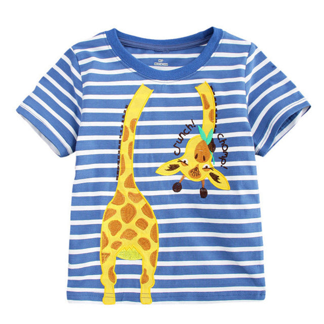 09f51f9b1b65 JOHNKART.COM.  17.08 USD. 2-7T Top brand fashion applique children boys T  shirts striped cotton popular summer baby ...