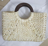 40*27CM New Female Straw Bag Summer Sand Beach Cotton  Holiday  bag