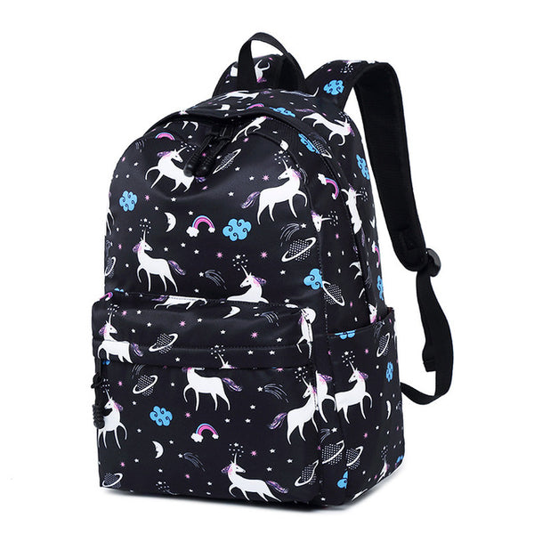 Cute Waterproof Nylon Women Unicorn Animal Printing Backpack Female Daily Bagpack Schoolbag for Teenagers Girls Laptop Bookbags