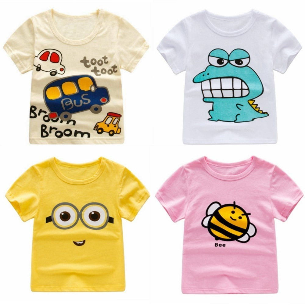 Onlybabycare Crocodile 100/% Cotton Toddler Baby Boys Girls Kids Short Sleeve T Shirt Top Tee Clothes 2-6 T