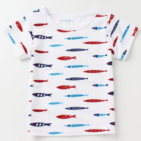 New Boys T shirts Children Tees Summer 2018 Cartoon Clothes Short Sleeve Tops Baby Cotton Shirts Kids T-shirts for Girls Tshirts