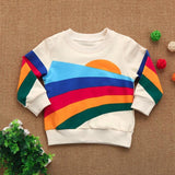 cute Toddler Newborn Infant Girls Boys Long Sleeve Rainbow T-shirt Warm Tops kids spring Outfits fashion children's clothing