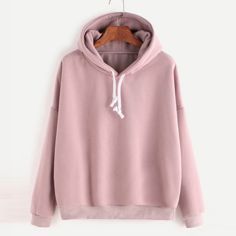 Spring Sweatshirts For Women Pink women's Gown With A Hood Hoodies Ladies Solid Long Sleeve Casual Hooded Clothes