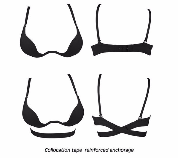 Sexy Deep U Low Cut ECMLN Push Up Women Lingerie U Bra Backless Underwear Plunge Sexy Bras Intimates bras Female