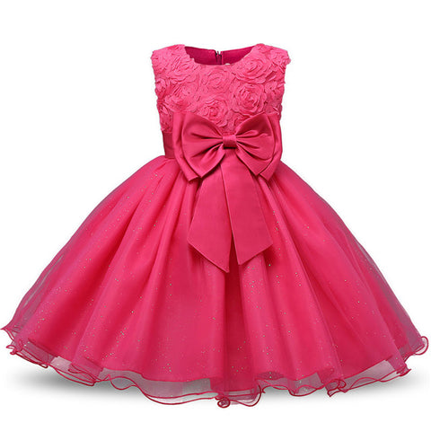 Flower Girl Dresses For Wedding Party Formal Gown For Little Girl Baby Birthday Dress 2018 Summer New Fashion Hot Sale