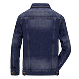 Men denim jacket brand clothing cotton casual mens jean jacket Black blue solid coat male Fashion denim Coat 120z