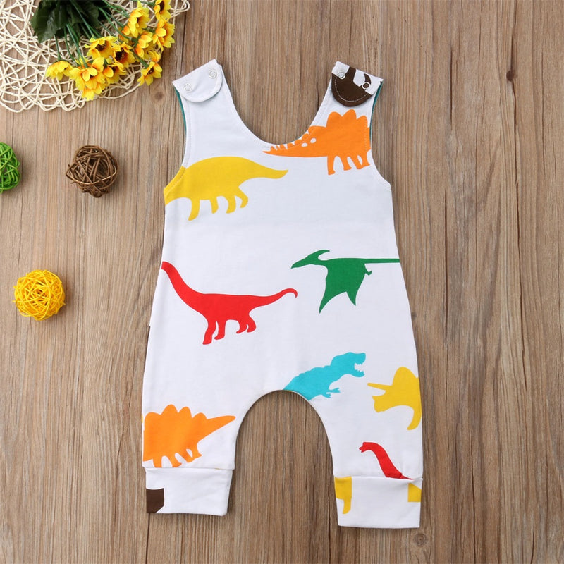 Newborn Baby Boys Romper Jumpsuit Sleeveless Cotton Outfits Sunsuit Clothes Casual Cute Baby Girl Boy 0-24M