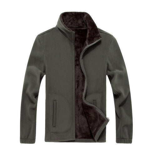 6XL 8XL Mens Softshell Fleece Casual Jackets Men Warm Sweatshirt Thermal Coats Solid color Thickened Winter Brand Clothing
