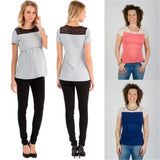 Essential Plus Size Women Maternity Clothes Pregnancy nursing breastfeeding Top Tees Vest Blouse