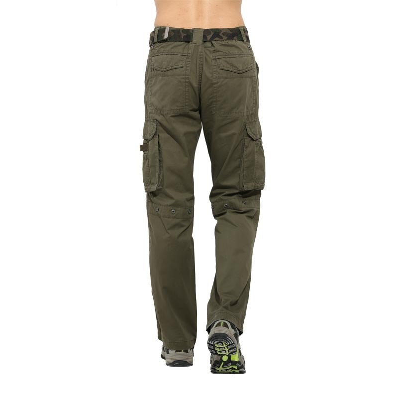 48c97d6acef ... Spring Men Casual Pants Summer Army Green Military Work Trousers Big  Pockets Full Length Trousers Men ...