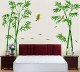 Removable Green Bamboo Forest Depths Wall Sticker Creative Style DIY Tree Home Decor Decals for Living Room Decoration