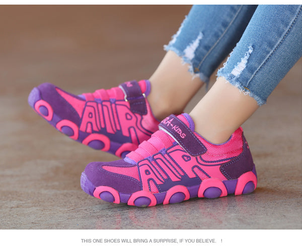 High quality Brand children shoes boys and girls genuine leather outdoor shoes breathable running shoes kids sports shoes