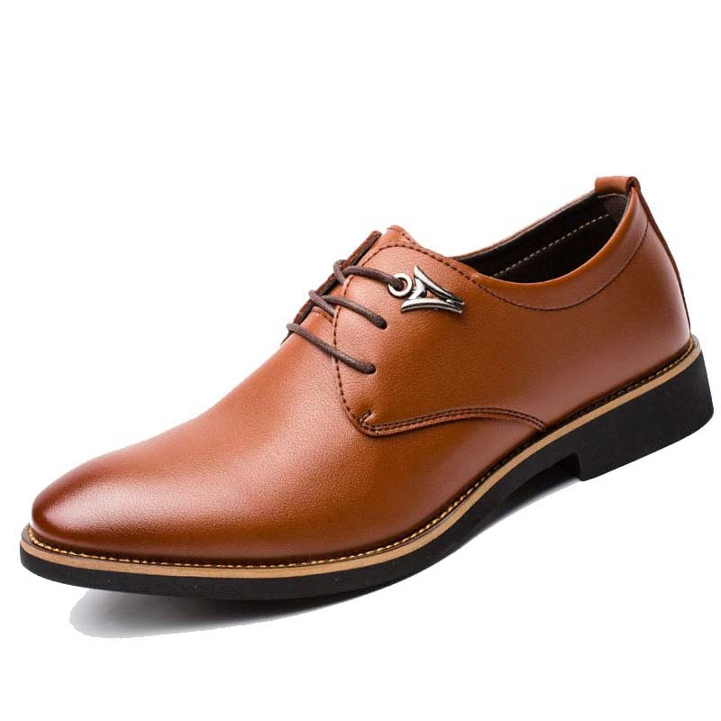 ... men formal shoes dress leather pointed toe man oxford shoes business  with design luxury brand shoe ... 410cbdb1c78f