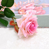 5Pcs French Romantic Wedding Decoration Artificial Rose Flower DIY Velvet Silk Flower for Party Home