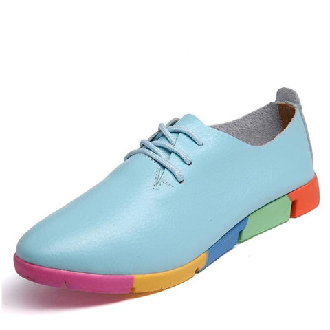 Real Leather Mother Women's Flats New Spring Autumn Pregnant Women Shoes Casual Trade Large Size 44 Peas Shoes