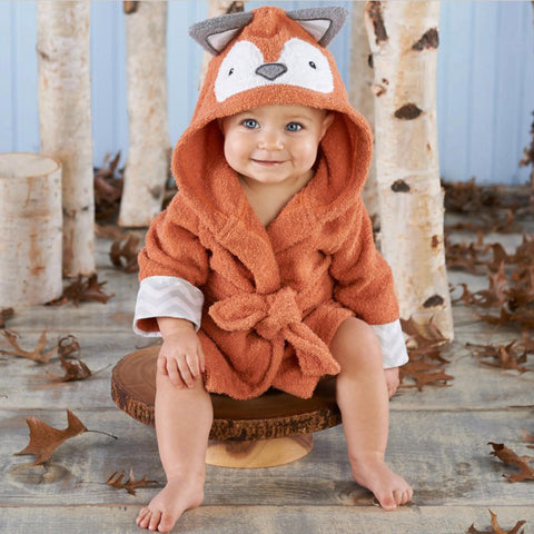 Retail Baby Animal Bathrobe For Boys And Girls Hooded Towel Beach Children Bathrobes Kids Robes Children Cartoon Pajamas YUPAO