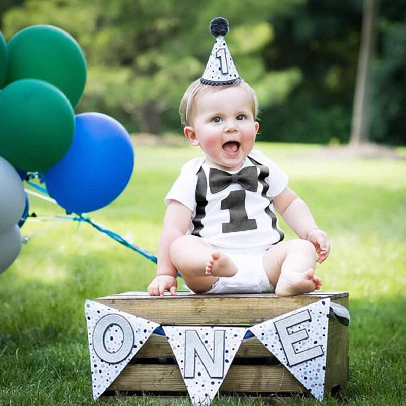 59d0a220603fc Baby Boy Romper Toddler Boys Clothes Kids Jumpsuit 1st Birthday Rompers  Infant Clothing Playsuits One Year Boy Casual Overalls
