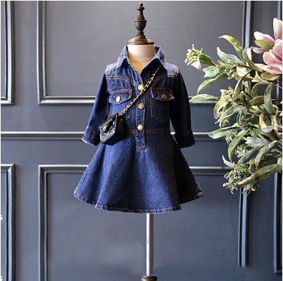 baby girls dress denim baby clothes children girls party dress infant girl jacket casual costume