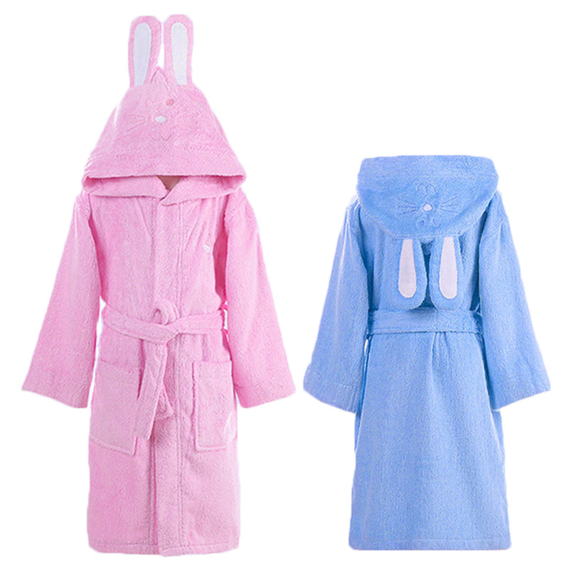 Hooded Towel Child Bathrobe Kids Boys Girls Robe Cotton Lovely Bath ...