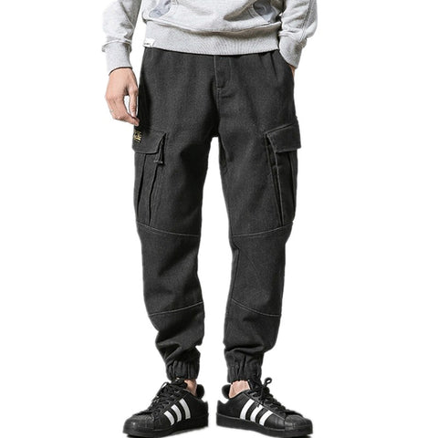 New Arrival Mens Cargo Pants Big Pocket Casual Style Male Pencil Pants Fashion Harem Pant High Quality Trousers