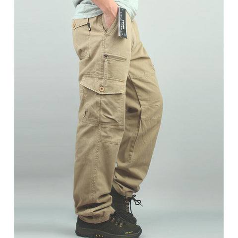 New Style Men Cotton Length Cargo overall casual Plus Size Man Sandbeach trousers