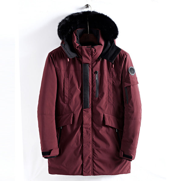 New Large Size Warm Outwear Winter Jacket Men Windproof PARKAS Hood Brand Clothing