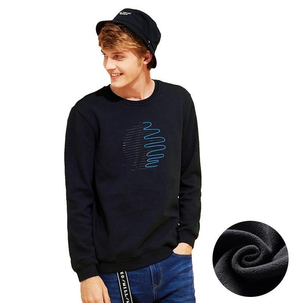warm fleece sweatshirts men brand-clothing fashion print thick winter hoodies male quality 100% cotton AWY701327