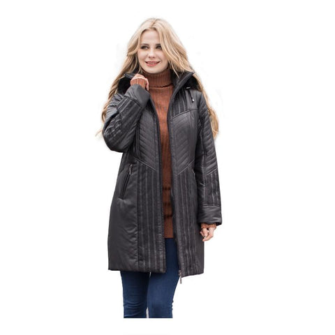 Women Trench coats Autumn Winter Ladies Fashion coat detachable hood with fake fur plus size 4XL 6XL lace decoration