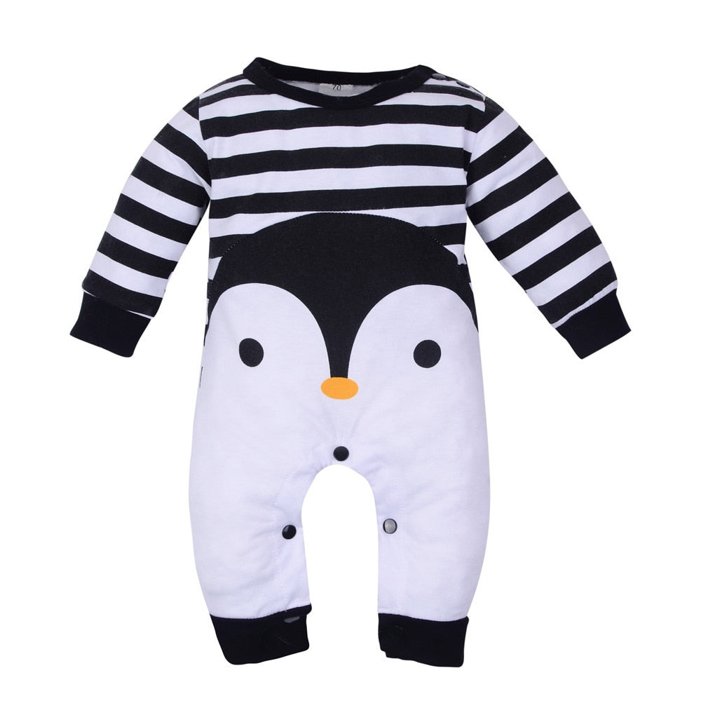 494fc4bda3bf Newborn baby clothes Girl Boy Long Sleeve Cartoon Print Striped ...