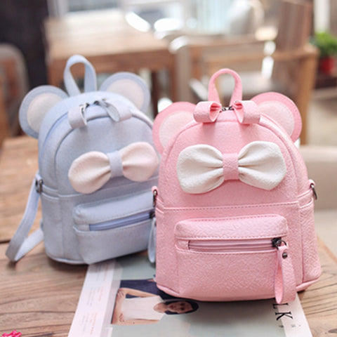 New girl shoulder bag Cartoon backpack dual-use small Diagonal School bag children cute bow small backpack mochilas escolares