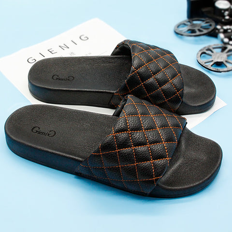 new mens slippers breathable and cool towing and bottom casual anti-skid wear-resistant male home slippers