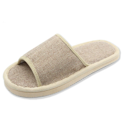 Natural Flax Home Slippers Indoor Floor Shoes Silent Sweat Slippers For Summer Women Sandals Men Indoor Slippers HS301