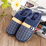 new cotton slippers for men household slippers to keep warm shoes Winter non-slip soft slippers
