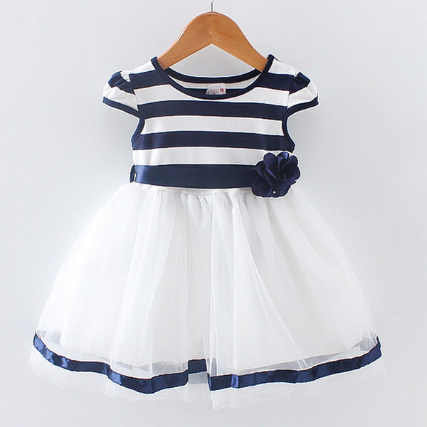 Newborn Girl Summer Dress New Brand Princess child Girls Dresses Sleeveless infant Cotton Striped Clothing