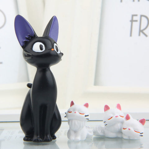 1pcs Studio Ghibli Kiki's Black Cat & White Cat PVC Action Figures Toys Collection Model Toy for Kids Children Christmas Gifts