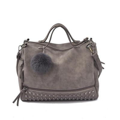 luxury suede leather handbags women bags designer vintage top-handle bags punk rivet crossbody shoulder bag  R529