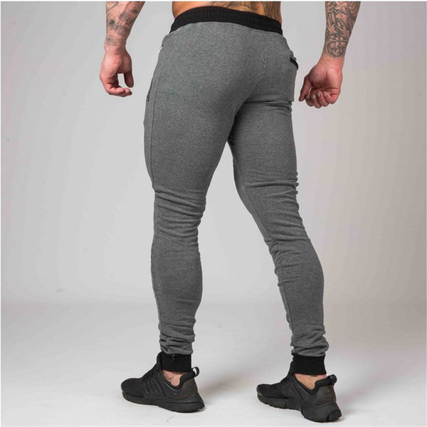 New Men Cotton Sweatpants Casual Fashion Skinny Pant Male Gyms Fitness Bodybuilding Trousers Man Jogger Brand Pencil Pants