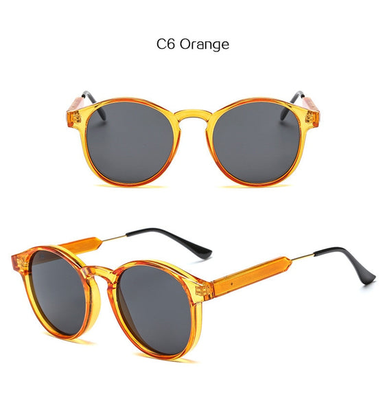 Retro Round Sunglasses Men Women for Luxury Brand Designer Circle Vintage Sun Glasses Shades Eyewear UV400