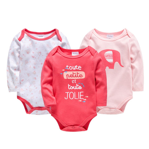 d68c44a6307fc 3pcs/Set Thick Cotton Baby Rompers Winter Long Sleeve Baby Girl Infant  Jumpsuit Newborn Baby