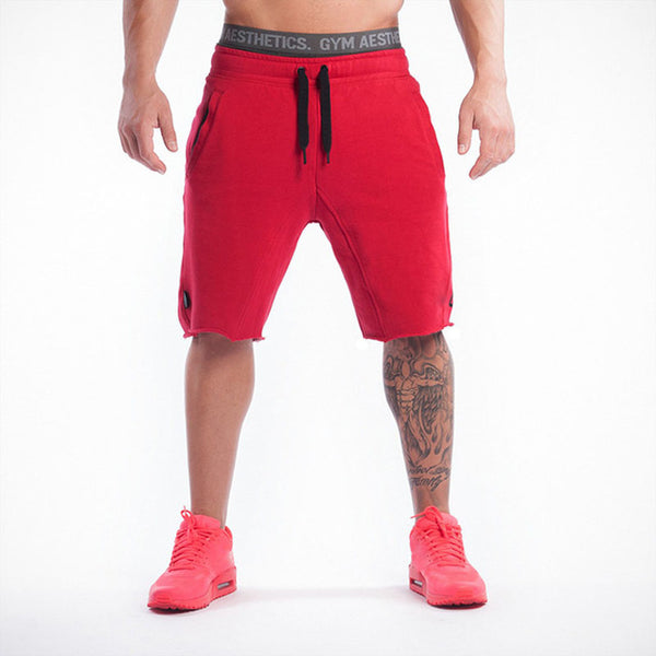 Cotton Men Shorts Men's Sports Running Fitness Facilities Beach Short Pants Casual Pants Solid Summer Casual Shorts For Men