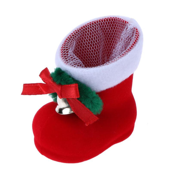 1PC Merry Christmas Candy Boots Gifts Christmas Decorations for Home Xmas Stocking Natal Decor New Year Decoration