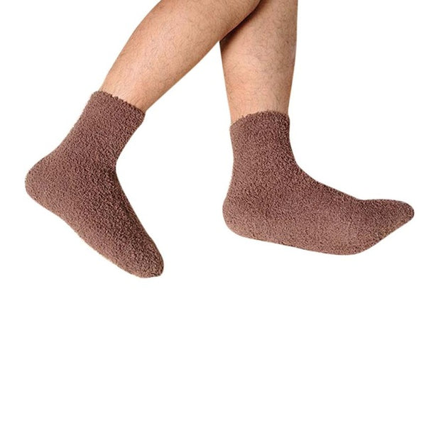New Arrival Mens Thick Warm Coral Fleece Slipper Non-slip Cotton Socks Floor Towel Thermal Men's Socks Breathable Meias Hocok