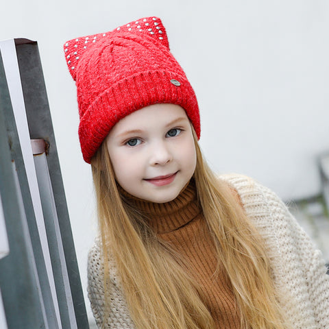 Hats For Girls Caps Children Brand New Fashion High Quality Knitted Warm Beanies Skullies Bonnet #MZ851