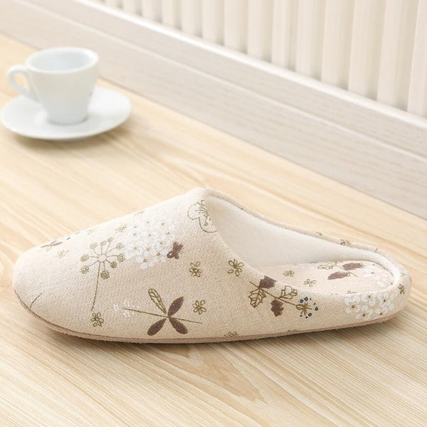 Household Indoor Slippers Linen Soft Bottom Slippers Shoes Anti-Slip Suede Slippers House Slippers Scarpe Donna