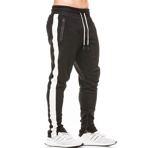 Autumn New Men Fitness Sweatpants Male Gyms Workout Cotton Trousers Pant Casual Fashion Joggers Sportswear Pencil Pants