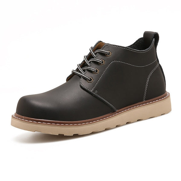 Leather Men Boots Autumn Winter Ankle Boots Fashion Casual Footwear Lace Up Shoes Men High Quality Vintage Men Shoes