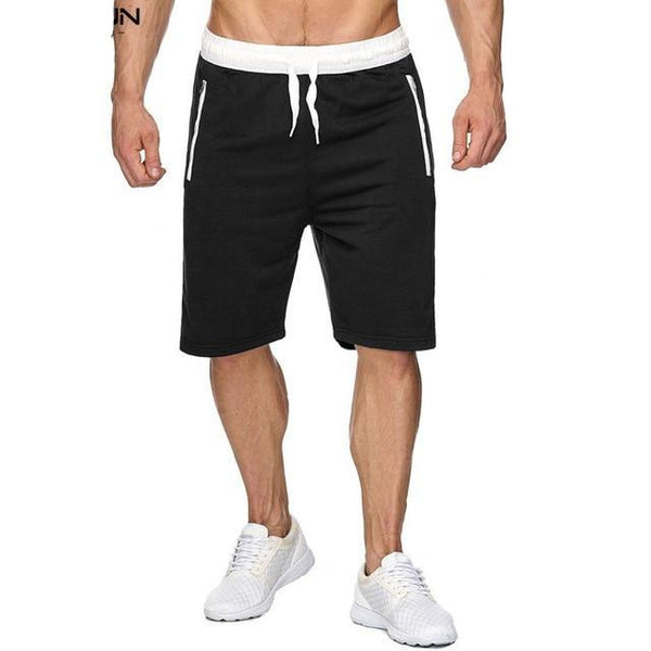 Summer Beach Shorts Men Casual Bermuda Masculina Short Masculino Solid  Zipper Pockets Men Shorts Sweatpants Homme Male Big Size