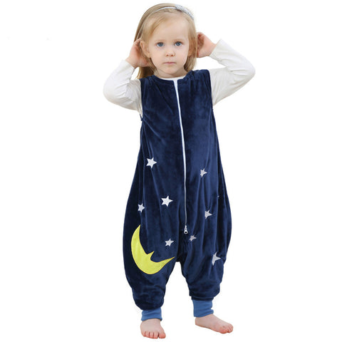 baby boy girls Pajamas Cartoon Images Flannel Warm Sleeping Bag Kids Prevent The Kick Quilt Baby Blanket Sleeper Children Footed