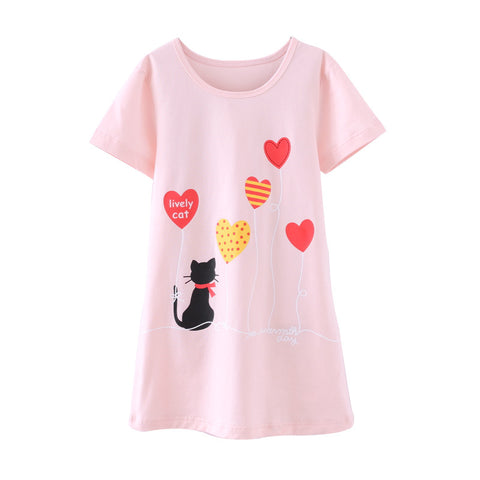Princess Dress Fashion Summer Soft Girls Dress Nightgown Kids Dresses Night Gown Pajamas Dress Sleepwear Pyjamas Clothes